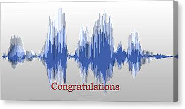 Audio Art Congratulations Canvas Print by Thomas Woolworth