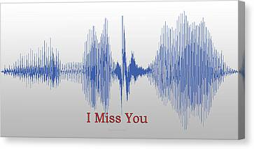 Audio Art I Miss You Canvas Print by Thomas Woolworth