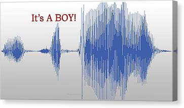 Audio Art It's A Boy Canvas Print by Thomas Woolworth