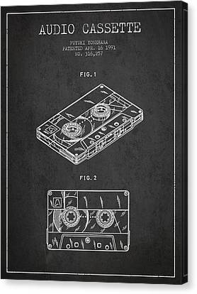 Melody Canvas Print - Audio Cassette Patent From 1991 - Dark by Aged Pixel