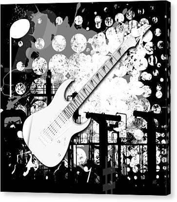 Audio Deco 2 Canvas Print by Melissa Smith