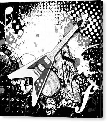 Audio Deco 3 Canvas Print by Melissa Smith