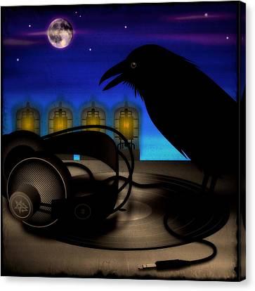 Audiophile Raven Canvas Print by Milton Thompson