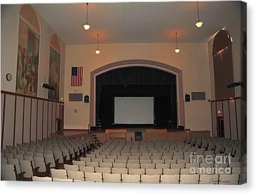 Clare Michigan Canvas Print - Auditorium In Clare Michigan by Terri Gostola