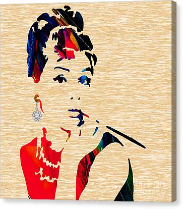 Audrey Helburn Collection Canvas Print by Marvin Blaine