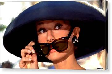 Audrey Hepburn @ Breakfast At Tiffany's Canvas Print