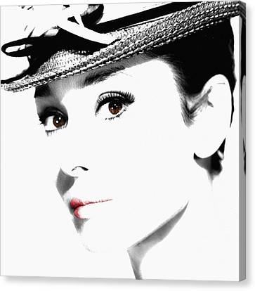 Audrey Hepburn 2 Canvas Print by Andrew Fare
