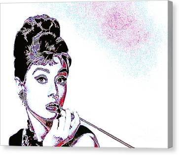 Audrey Hepburn 20130330 Canvas Print by Wingsdomain Art and Photography
