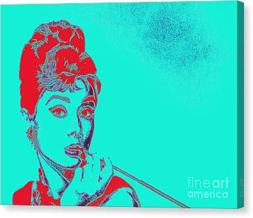 Audrey Hepburn 20130330v2p128 Canvas Print by Wingsdomain Art and Photography