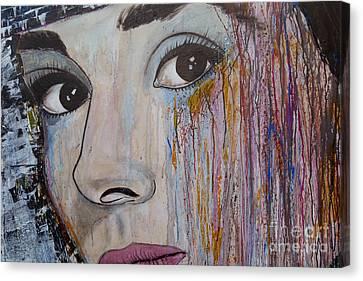 Audrey Hepburn-abstract 2 Canvas Print by Ismeta Gruenwald