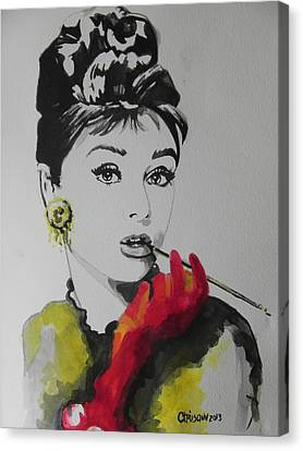 Audrey Hepburn Canvas Print by Chrisann Ellis