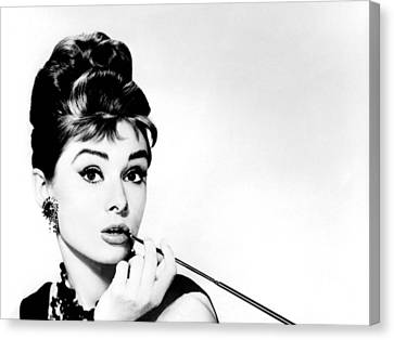 Audrey Hepburn Canvas Print by Csongor Licskai