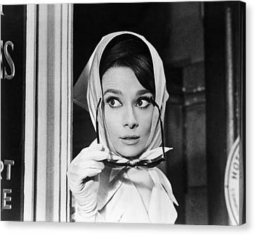 Audrey Hepburn In Charade  Canvas Print