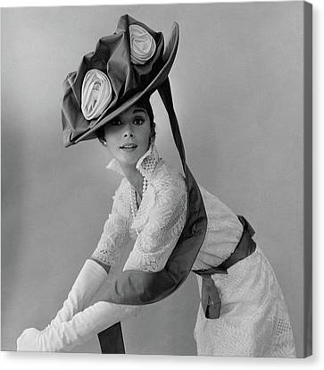 Audrey Hepburn In Costume For My Fair Lady Canvas Print by Cecil Beaton
