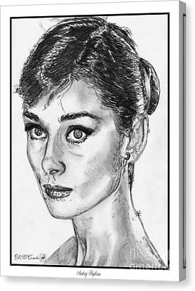 Audrey Hepburn Canvas Print by J McCombie