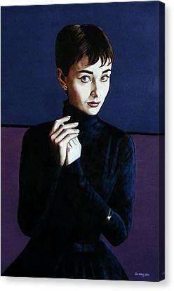 Audrey Hepburn Canvas Print by Jo King