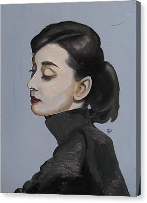Audrey Hepburn Canvas Print by Matt Burke