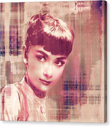 Audrey Hepburn Pop-art Canvas Print by Catherine Arnas