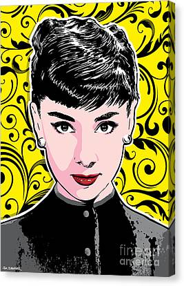 Audrey Hepburn Pop Art Canvas Print by Jim Zahniser