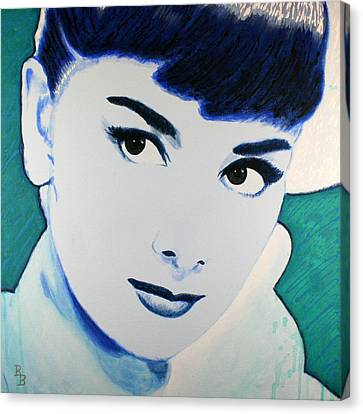Audrey Hepburn Pop Art Painting Canvas Print by Bob Baker