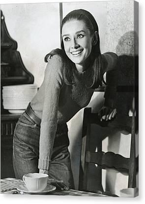 British Cinema Canvas Print - Audrey Hepburn by Retro Images Archive