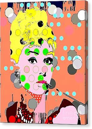 Audrey Hepburn Canvas Print by Ricky Sencion