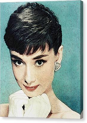 Audrey Hepburn Canvas Print by Taylan Apukovska