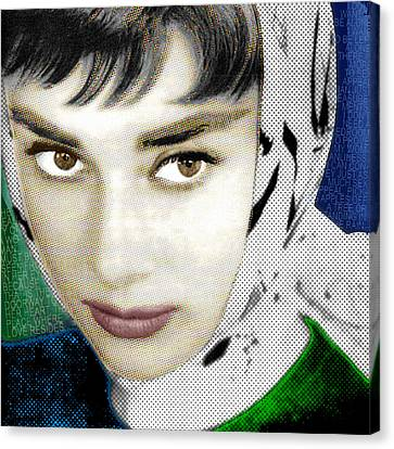 Audrey Hepburn Canvas Print by Tony Rubino