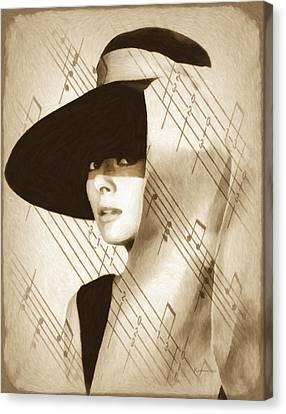 Audrey Hepburn Vintage Canvas Print by Georgiana Romanovna