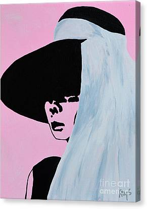 Audrey Hepburn Wears A Hat Canvas Print by Alys Caviness-Gober