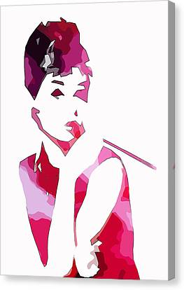 Audrey Pop Art Canvas Print by Steve K