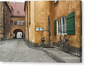 Canvas Print featuring the photograph Augsburg Germany by Paul Fearn