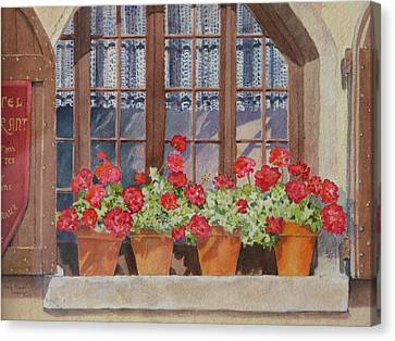 August At The Auberge  Canvas Print by Mary Ellen Mueller Legault