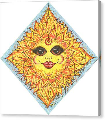 August Blazing Rays Sun Canvas Print by Beckie J Neff