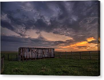 August Boxcar Canvas Print by Thomas Zimmerman