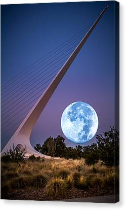 August Moon Canvas Print by Randy Wood