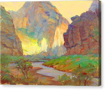 August On The Rogue River Zion Canvas Print by Ernest Principato