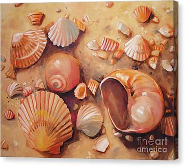 August Shells Canvas Print by Mary Hubley
