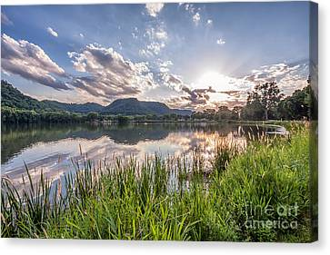 August Sunset Canvas Print by Kari Yearous