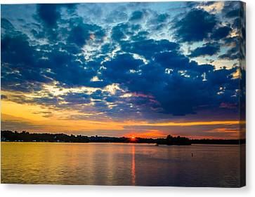 August Sunset Over Lake Nagawicka Canvas Print