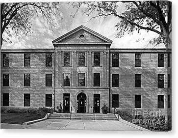 Augustana College Carlsson Evald Hall Canvas Print by University Icons
