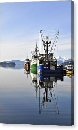 Auke Bay Reflection Canvas Print by Cathy Mahnke