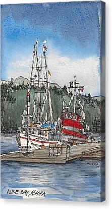Canvas Print featuring the mixed media Auke Bay  by Tim Oliver