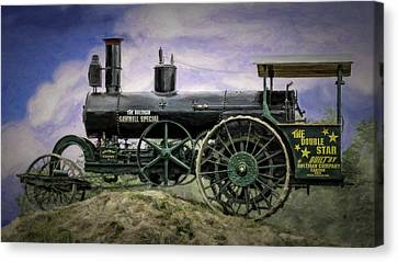 Aultman Saw Mill Special Double Star Steam Tractor V3 Canvas Print by F Leblanc