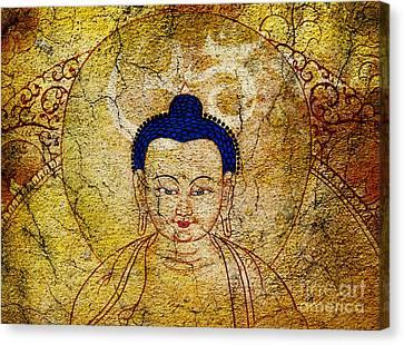 Tibetan Canvas Print - Aum Buddha by Tim Gainey