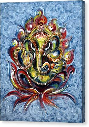 Aum Ganesha Canvas Print by Harsh Malik