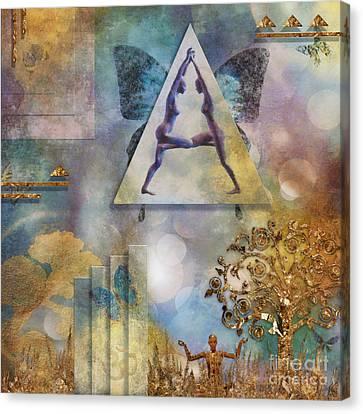 Canvas Print featuring the digital art Aum by Nola Lee Kelsey