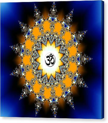 Aum Or Om Series - 33 Canvas Print by M Rao