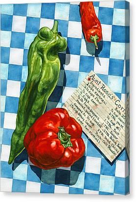 Aunt Rosa's Cornbread Canvas Print by Lynda Hoffman-Snodgrass