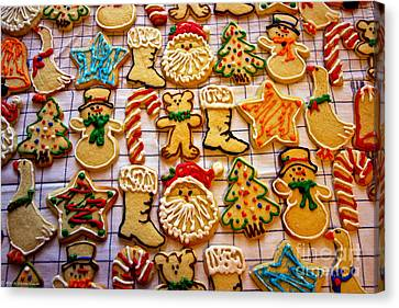 Aunt Tc's Christmas Cookies Canvas Print by Mitch Shindelbower